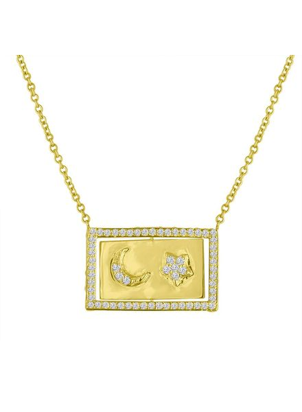 Eden Presley Moon and Back Flip Necklace