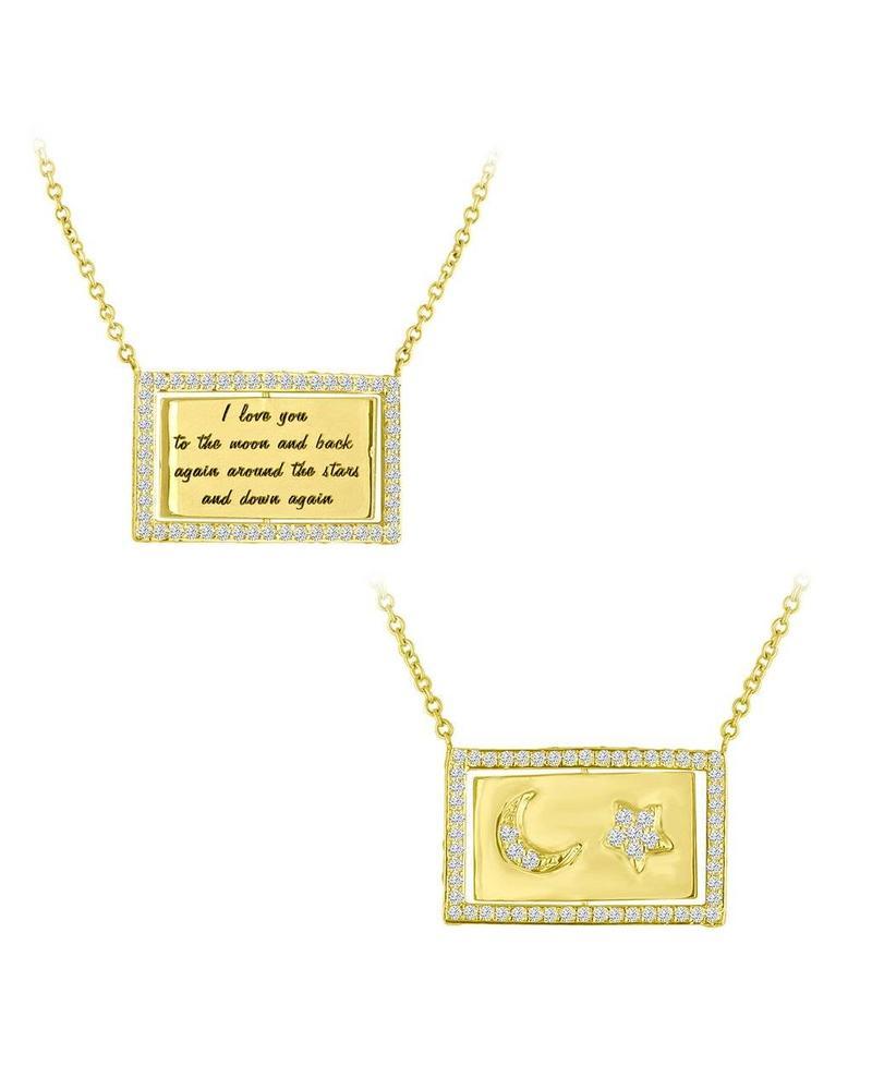 Eden Presley Moon and Back Flip Necklace