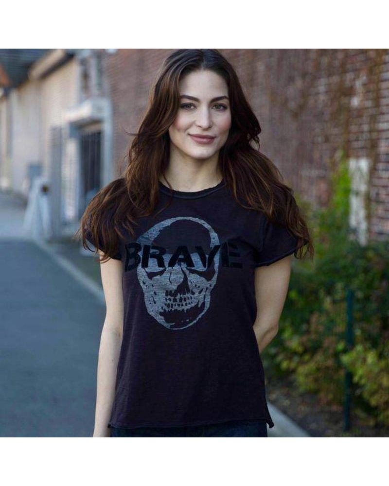 Unsweetened NY Brave Charcoal Tee