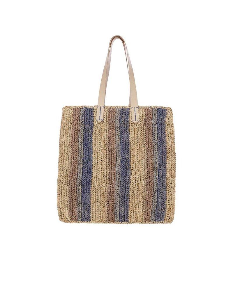 Flora Bella Ravello-Mistique Multi Crochet Raffia Tote