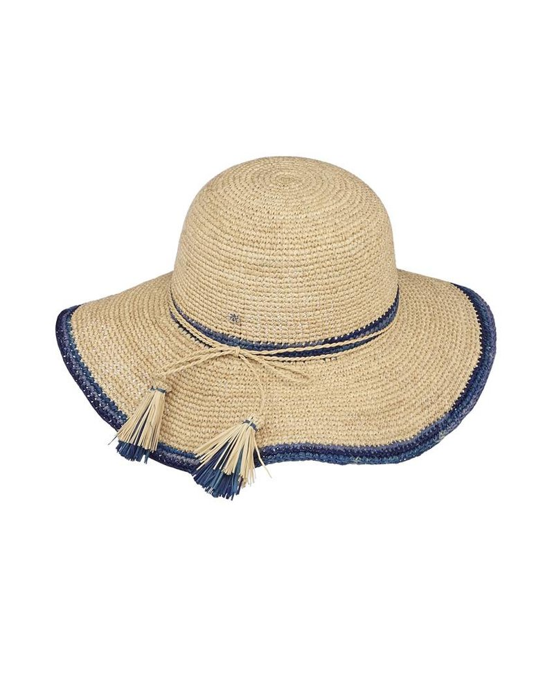 Flora Bella Maxine-Nat/Electric Crochet Sun Hat