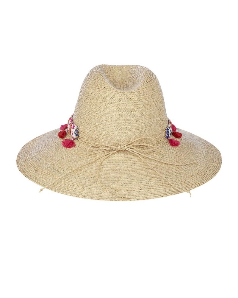 Flora Bella Rowan-Natural/Apple Crochet Raffia Sun Hat