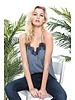 CAMI NYC The Racer Georgette Navy Gingham
