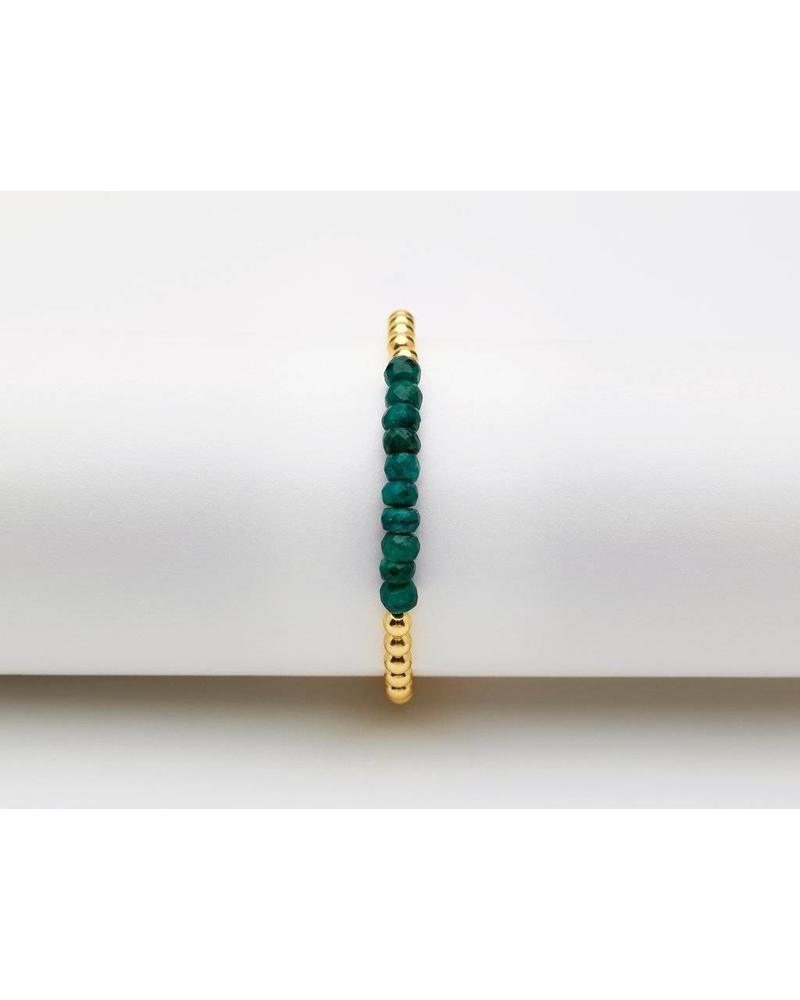 Karen Lazar 3mm yellow gold gemstone bracelet
