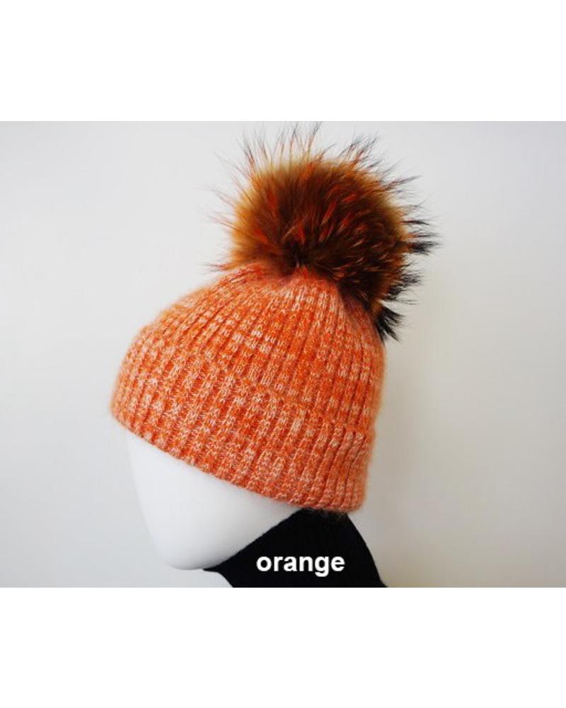 Linda Richards HA63 Angora/Tweed Pom Hat