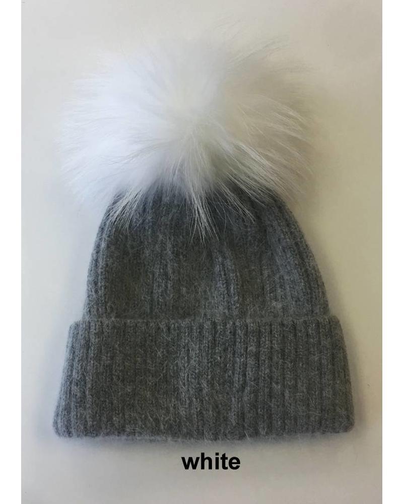 Linda Richards HA 62GRY Pom Pom Hat