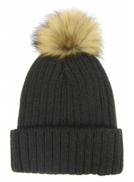 Hat Attack Chunky Rib Beanie with snap off Pom F18