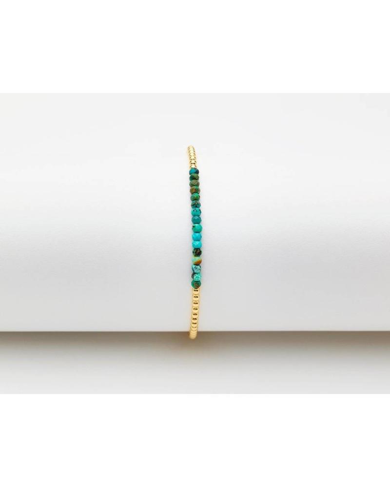 Karen Lazar 2mm Yellow Gold Gemstone Bracelet