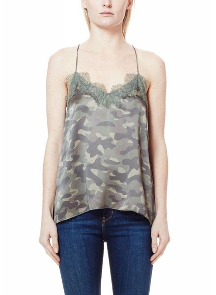 CAMI NYC The Racer Charmeuse Camo F18