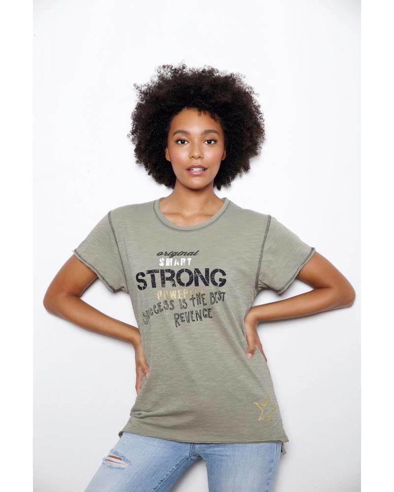Unsweetened NY Strong Khaki Tee F18