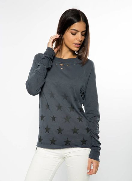 CHRLDR Faded Stars Long Sleeve Raw Edge F18