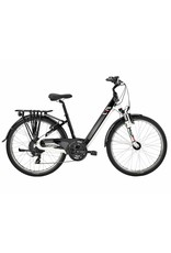 "Easy Motion EVO Eco 26"" Electric Step-Thru Bike Gloss BLACK/White MD"