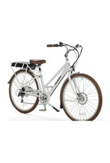 "2018 Pedego City Commuter Step-Thru700c/28"" 48Volt 15Ah - WHITE Electric Hybrid Bike"