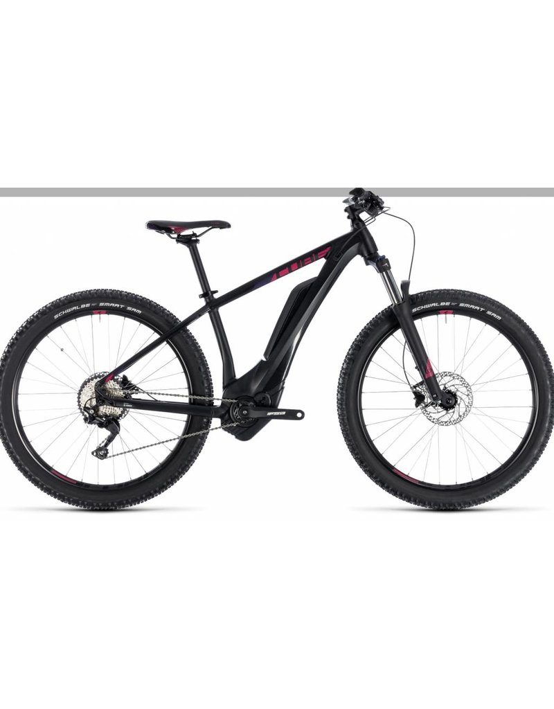 Cube 2018 Cube Access Hybrid Pro 500 Electric Women's HT MTB Bike Black n Berry 14