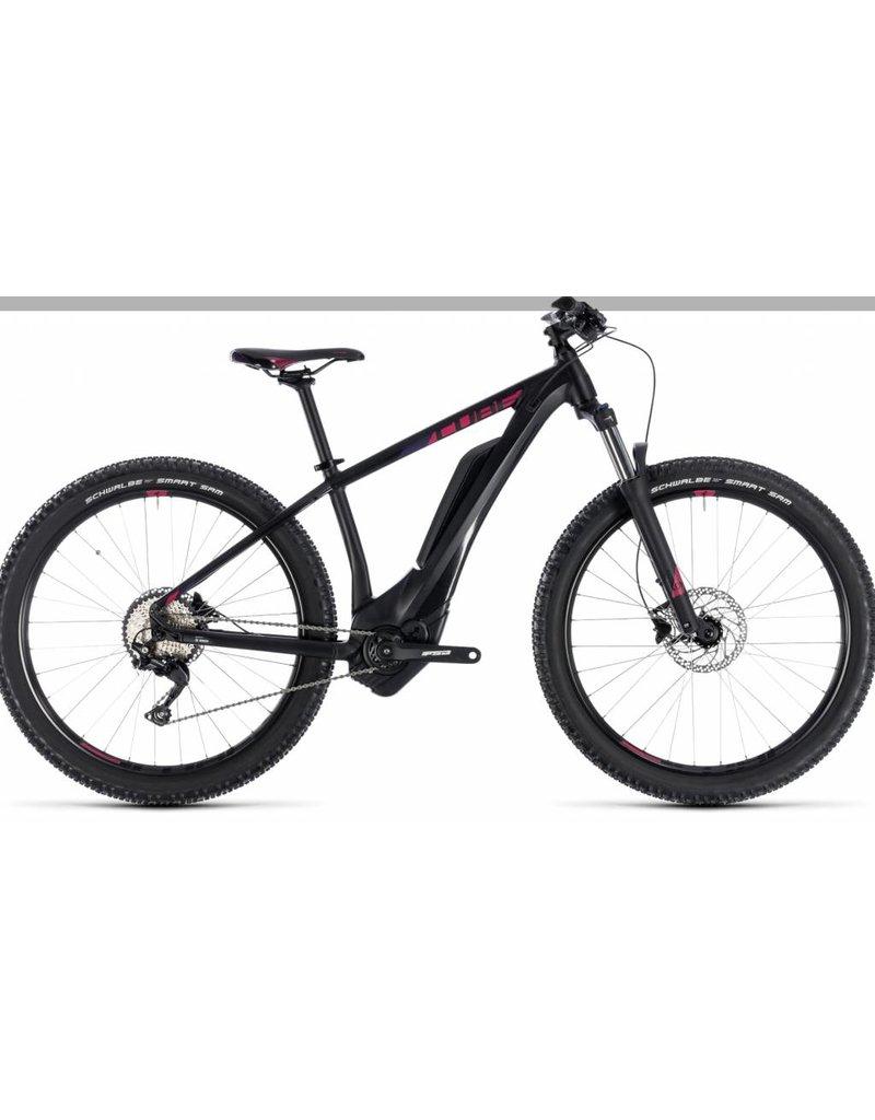 Cube 2018 Cube Access Hybrid Pro 500 Electric Women's HT MTB Bike Black n Berry 16