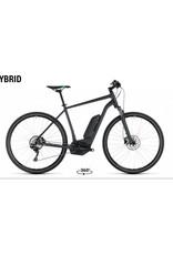 Cube 2018 Cube Cross Hybrid Pro 500 Electric MTB Hybrid Bike Grey/Flash Green 58 XL