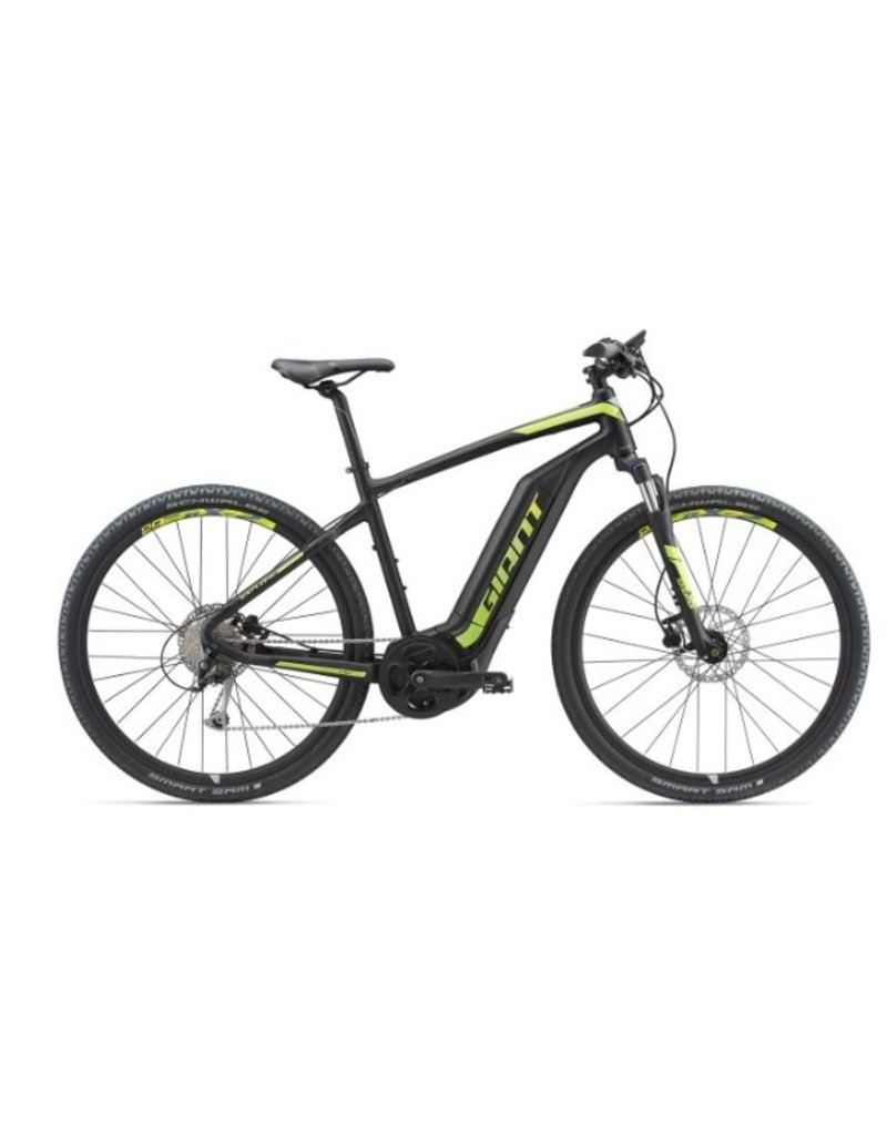 Giant 2018 Giant Explore E+ 3 Electric MTB Hybrid Bike Black/Lime LRG