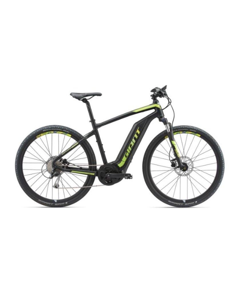 Giant 2018 Giant Explore E+ 3 Electric MTB Hybrid Bike Black/Lime MD