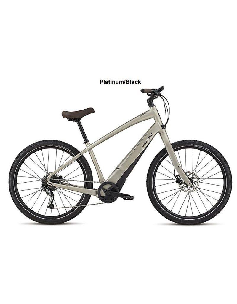 Specialized 2019 Specialized COMO 2.0 650B Electric Comfort Hybrid Bike Platinum/Black SML