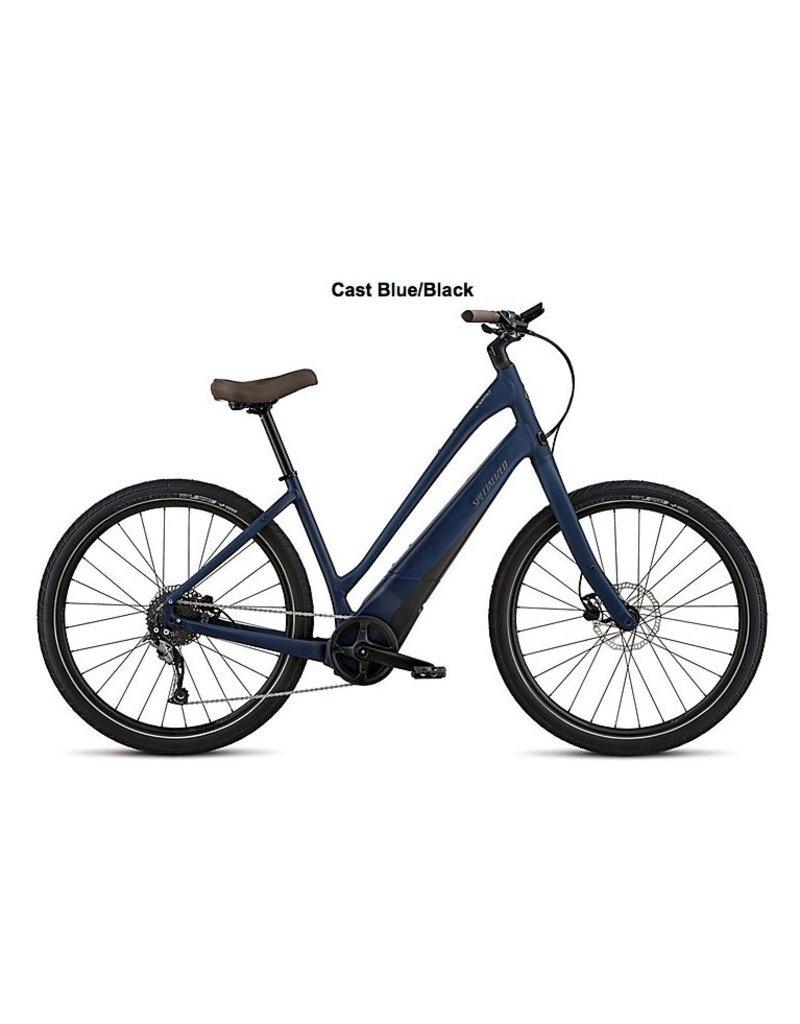 Specialized 2019 Specialized COMO 2.0 650B Step-Thru Electric Comfort Hybrid Bike Cast Navy Blue SML/md