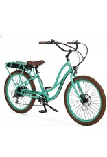 "Pedego 2018 Pedego Interceptor III Step-Thru 26"" 48Volt 10Ah - SEAFOAM Balloon/Fender Upgrade* Electric Bike"