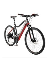 "EasyMotion Easy Motion EVO Cross + 28""/700c Electric MTB Hybrid Bike Matte GREY/Red SML *ON SALE*"
