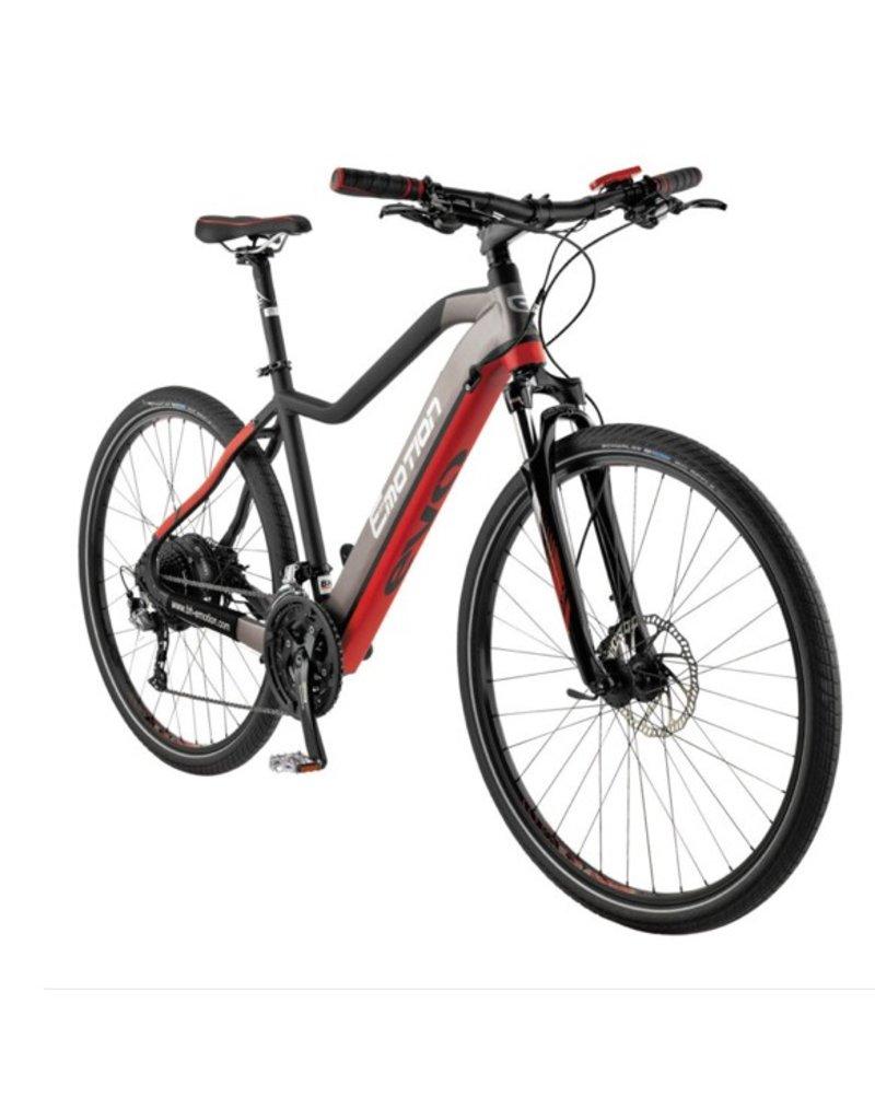 "Easy Motion Easy Motion EVO Cross + 28""/700c Electric MTB Hybrid Bike Matte GREY/Red LRG *ON SALE*"