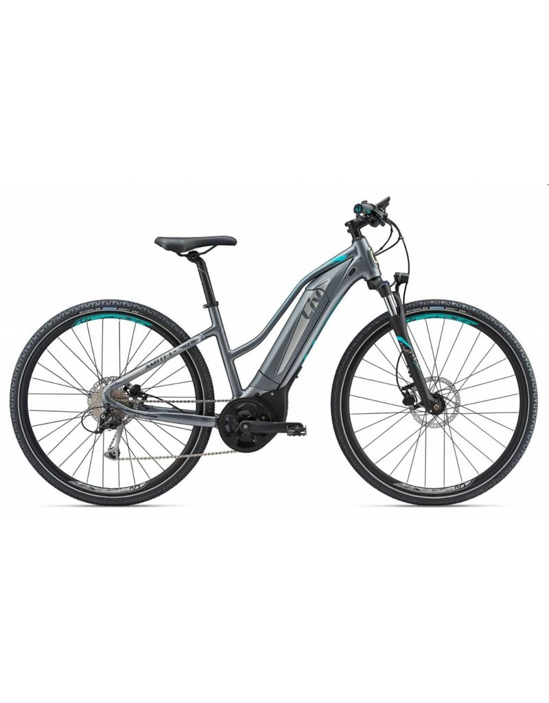 2018 Liv Amiti E +2 Silver/Turquoise XS Electric Mtb Hybrid eBike