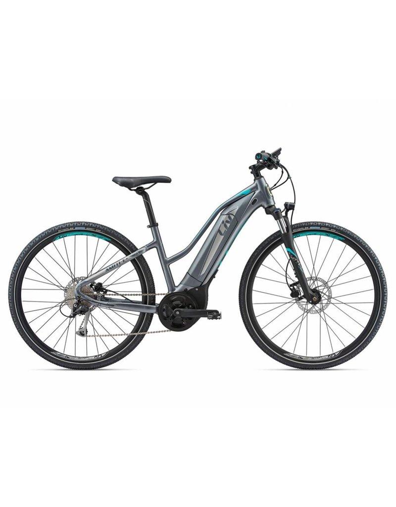 Giant 2018 Liv Amiti E +2 Silver/Turquoise MD Electric Mtb Hybrid Bike