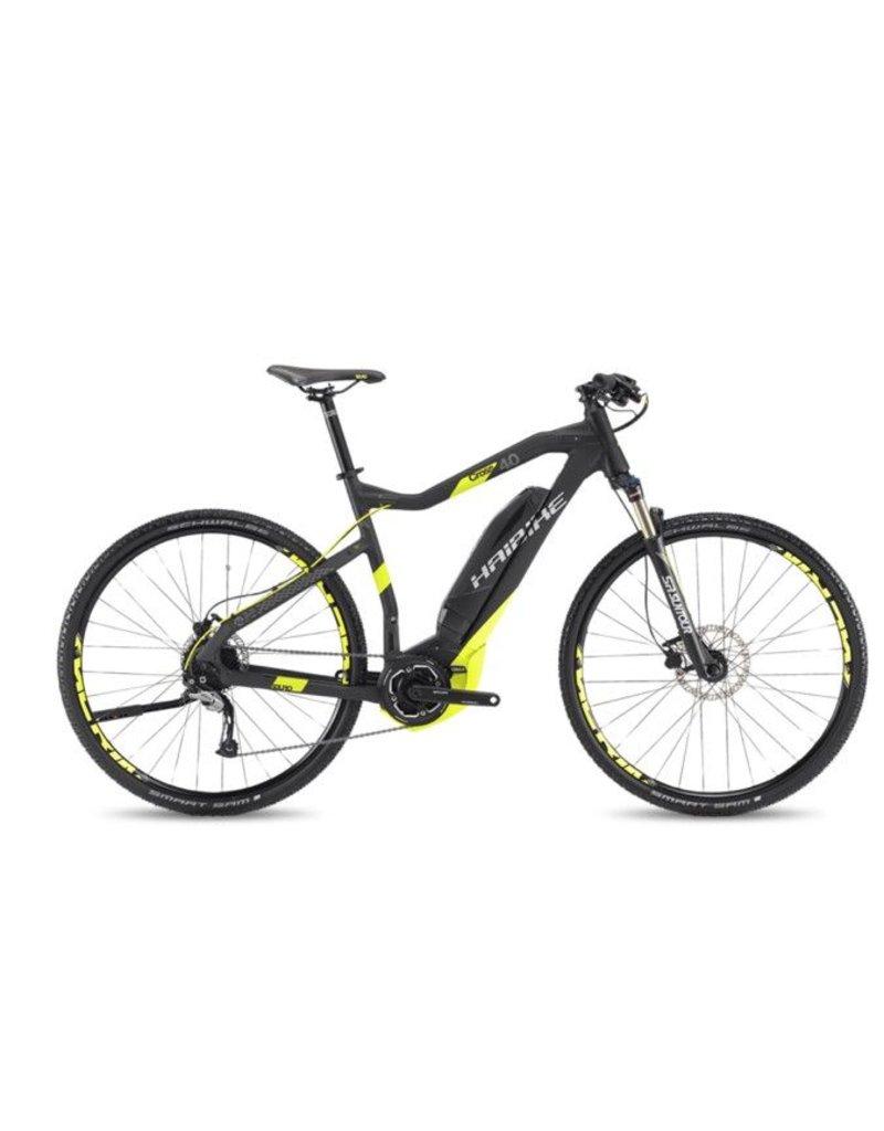 """HaiBike 2017 Haibike SDuro Cross High-Step 4.0 28""""/700 Electric MTB Hybrid Bike Black/Yellow 60cm/XL *ON SALE*"""