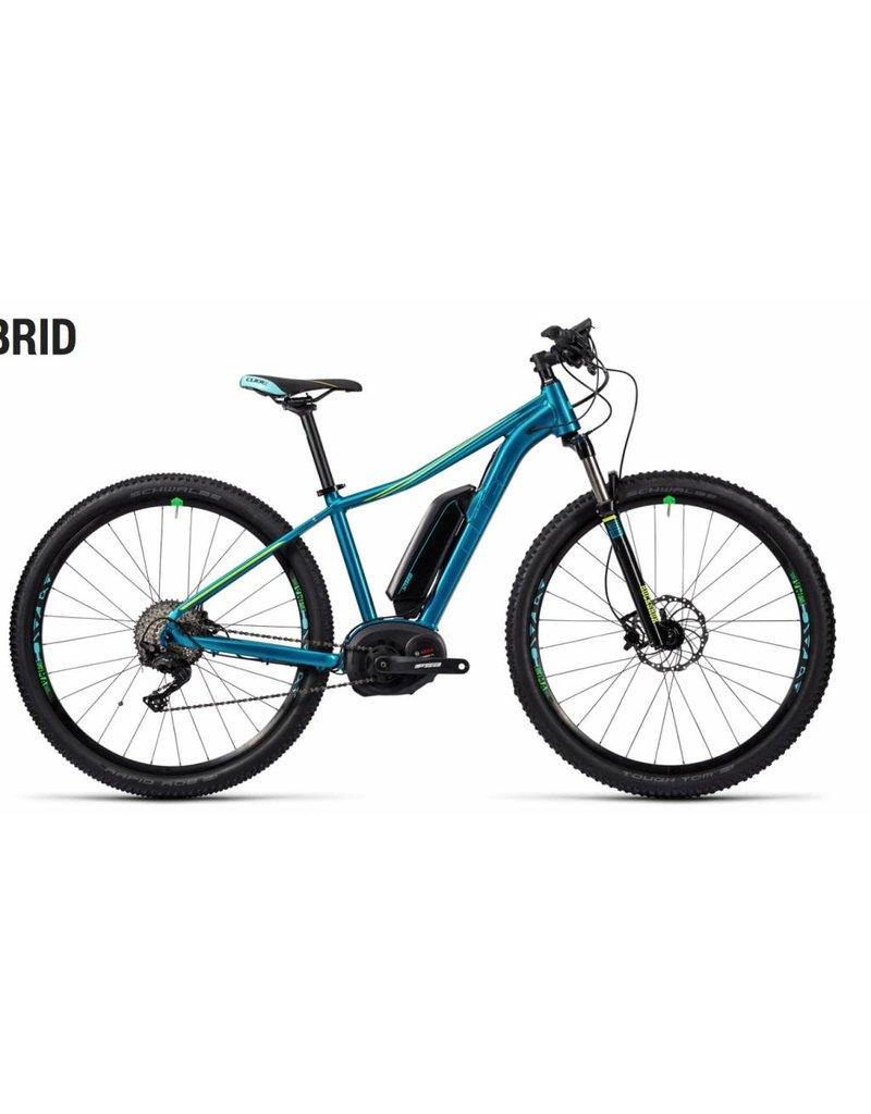 2016 Cube Access Hybrid Race 400 Electric Women's HT MTB Bike Blue/Green 19 *ON SALE*