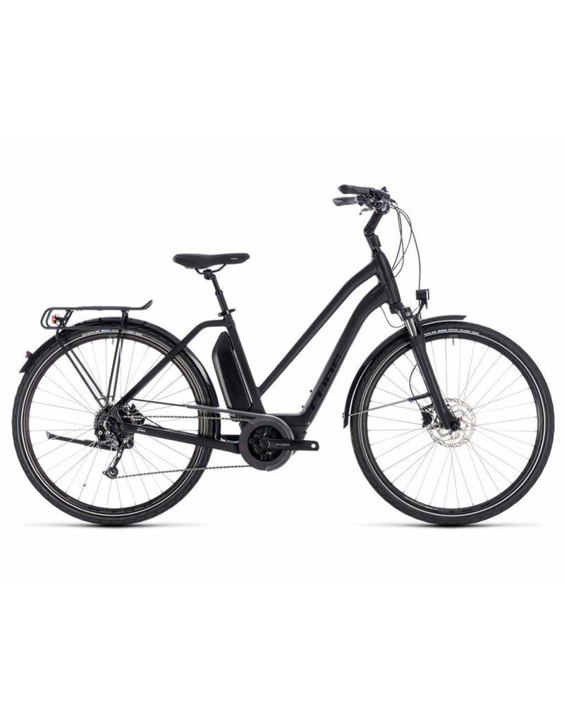 Cube 2018 Cube Town Sport Hybrid 500 Electric Comfort Hybrid Bike Trapeze