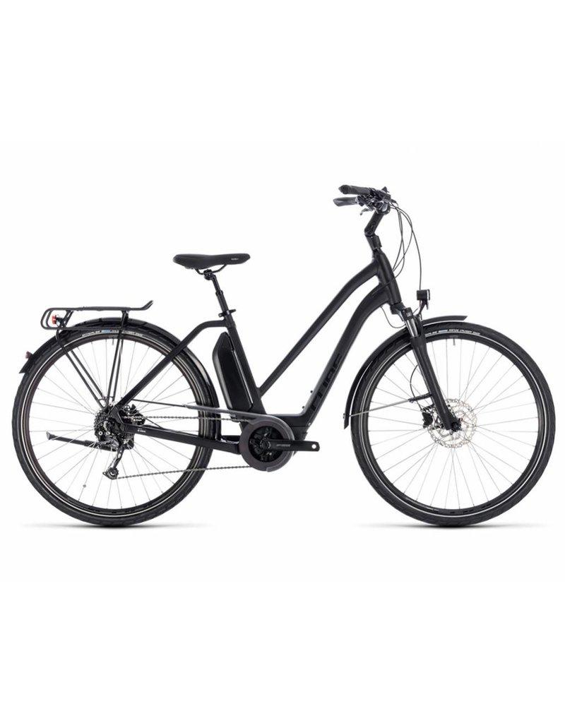 Cube 2018 Cube Town Sport Pro Hybrid 500 Electric Comfort Hybrid Bike Step-Thru Diamond Trapeze