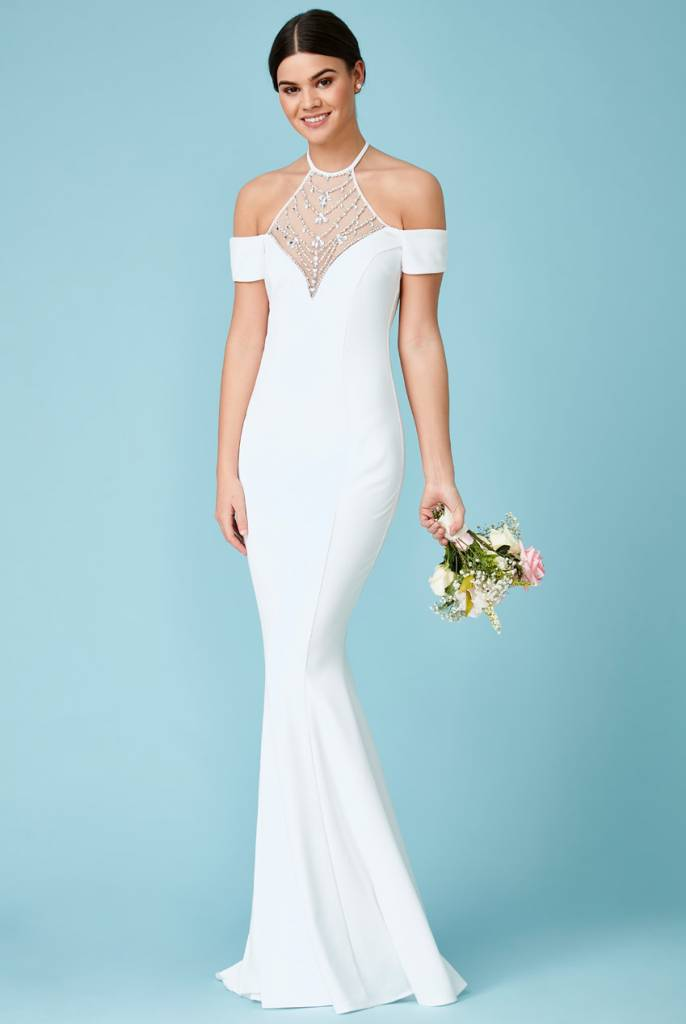 Shop Pariz Halter Wedding Gown | THE DRESS DIVA - The Dress Diva