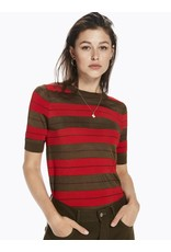 Stripped Short Sleeve Knit