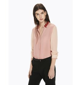 Colour Block Drapey Shirt