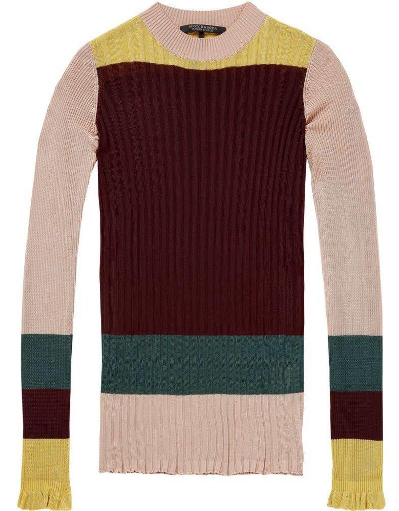 Haut tricot à côtes
