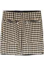 Structured Mini Skirt With Zip Detail