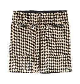Mini jupe structurée avec détail de zip