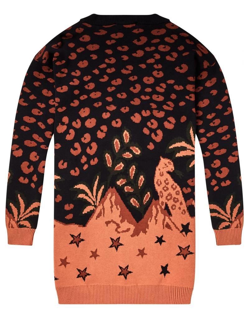 Cardigan imprimé étoiles et léopard