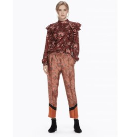 Pantalon floral avec détails color-block