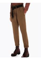 Pantalon avec taille haute froncée avec ceinture