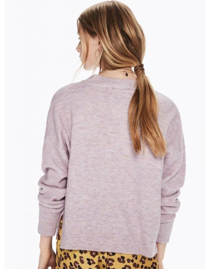 Sweat-shirt ras du cou en mélange de laine