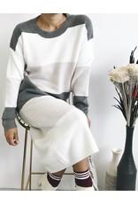 Jupe en tricot avec contraste de couleurs
