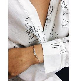 Lauren - Bracelet plaqué argent détail de plume