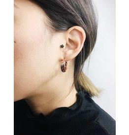 Jenifer - Boucles d'oreilles plaqué or rose
