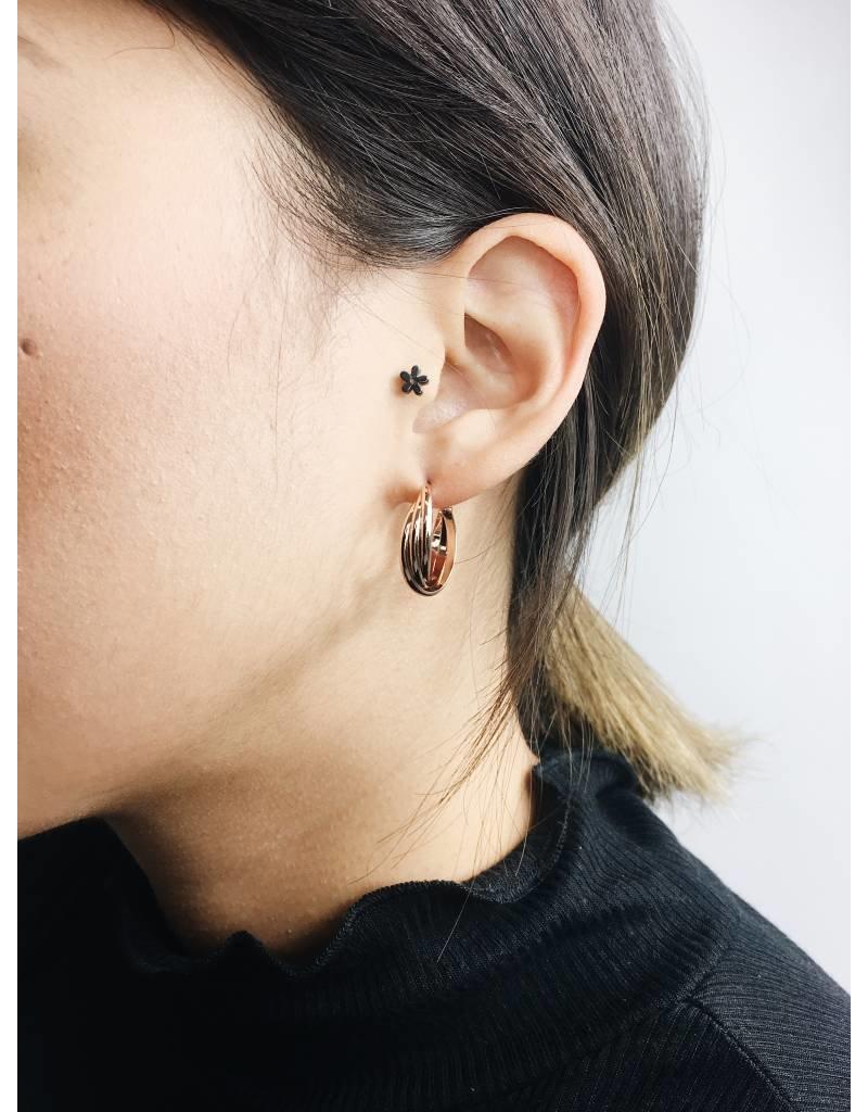 Jenifer - Rose Gold Plated Earrings