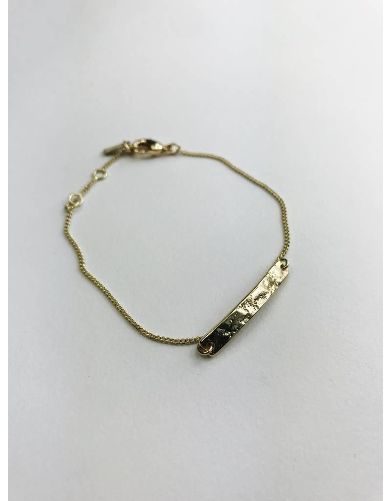 Marley - Bracelet plaqué or avec plaque