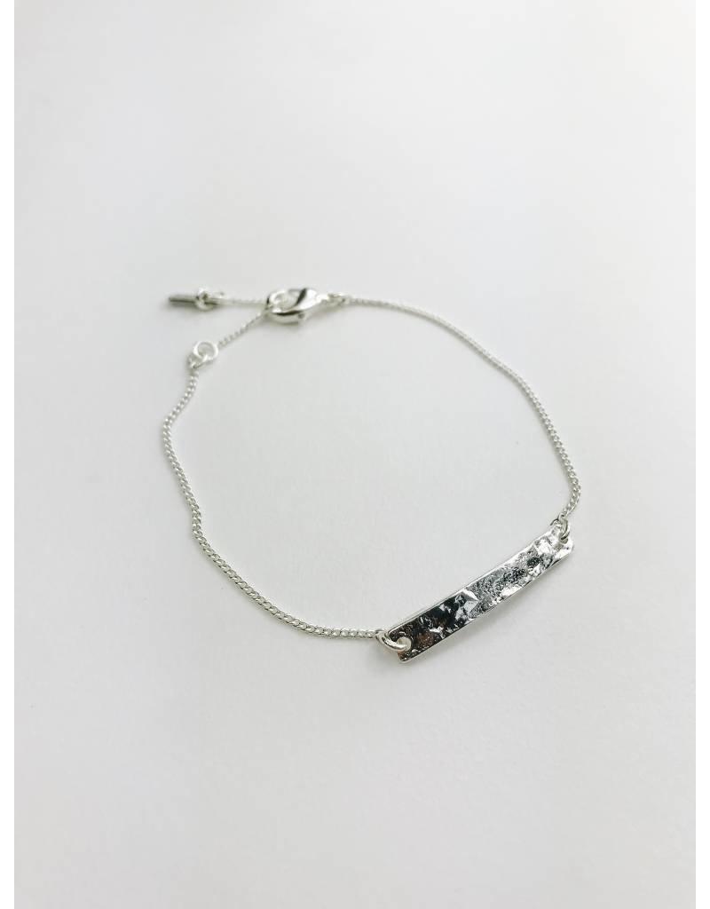Marley - Silver Plated Plaque  Bracelet