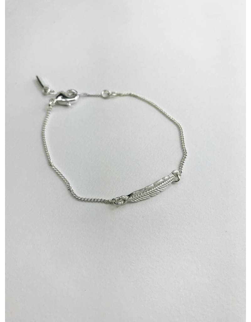 Lauren - Silver Plated Feather Bracelet